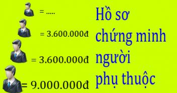 Ho so chung minh Nguoi phu thuoc