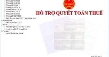 Phần mềm hỗ trợ quyết toán thuế tncn