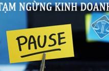 tAM NGUNG KINH DOANH
