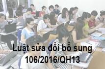 Luật 106/2016/qh13