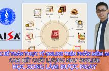 học phần mềm kế toán misa online