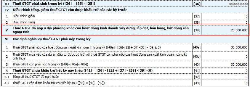 Kê khai thuế vãng lai trên Tờ khai thuế GTGT khấu trừ 01-GTGT