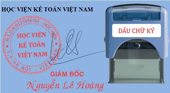 đóng dấu chữ ký khắc sẵn lên hóa đơn chứng từ kế toán có được không