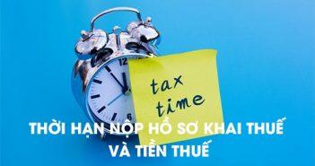 Thời hạn nộp hồ sơ khai thuế và thời hạn nộp tiền thuế