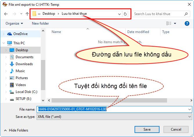Hướng dẫn kết xuất tờ khai thuế ra file XML