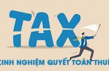 Kinh nghiệm quyết toán thuế