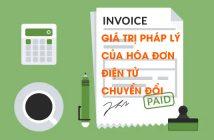 Giá trị pháp lý của hóa đơn điện tử chuyển đổi