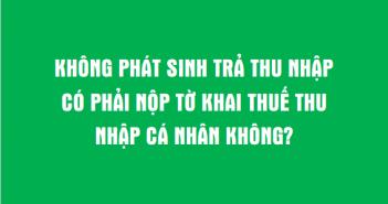 không phat sinh tra thu nhap co phai khai thue khong