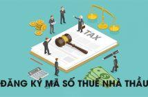 Đăng ký mã số thuế nhà thầu nước ngoài