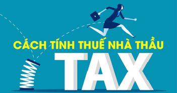Cách tính thuế nhà thầu theo phương pháp trực tiếp