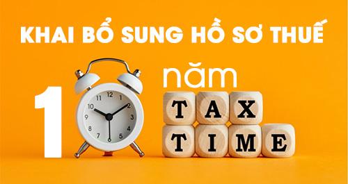 Kê khai bổ sung hồ sơ khai thuế